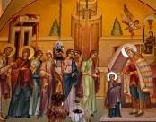 Божественная Литургия в храме Архангела Михаила в день празднования Введения во храм Пресвятой Богородицы