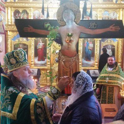 (Foto) Intrarea Domnului în Ierusalim marcată la Biserica Arhanghelului Mihail din Hrustovaia