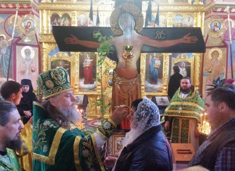 (Фото) В праздник Входа Господня в Иерусалим  в храме Архангела Михаила, с. Хрустовая, состоялось праздничная Божественная литургия