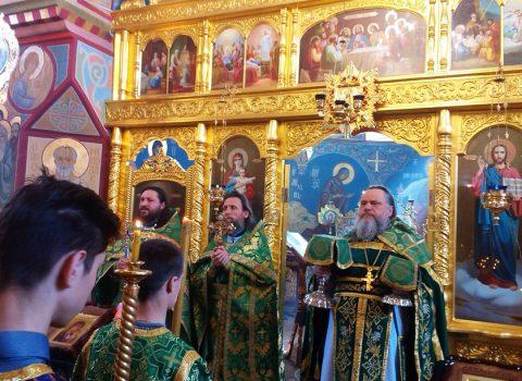 (Фото) Божественная литургия была совершена в нашем храме в праздник Входа Господня в Иерусалим