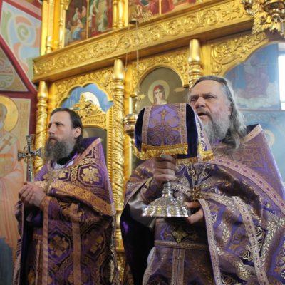 (Фото) Божественная литургия в храме Архангела Михаила 25 марта 2018