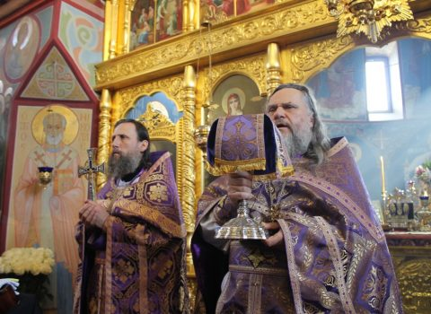 (Foto) Sfânta Liturghie în Biserica Arhanghelului Mihail 25 martie 2018