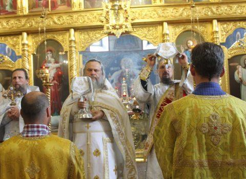 В праздник Вознесения Господня была совершена Божественная литургия
